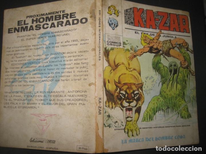 KA-ZAR. EL REY DE LA JUNGLA. Nº 4. TACO. EDICIONES VERTICE 1973 . 128 PAGINAS (Tebeos y Comics - Vértice - Capitán América)