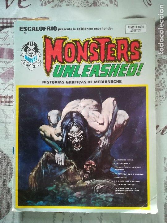 ESCALOFRIO Nº 9 MONSTERS UNLEASHED Nº 3 (Tebeos y Comics - Vértice - Terror)