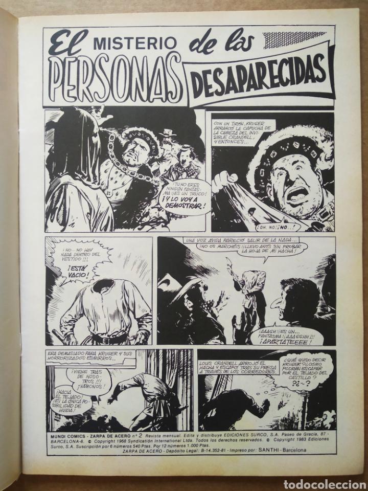 Cómics: Lote Zarpa de Acero, números 1-2-3-4-5 (Ediciones Surco, 1983). Línea 83 / Surco. - Foto 4 - 133460235