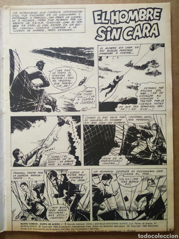 Cómics: Lote Zarpa de Acero, números 1-2-3-4-5 (Ediciones Surco, 1983). Línea 83 / Surco. - Foto 7 - 133460235
