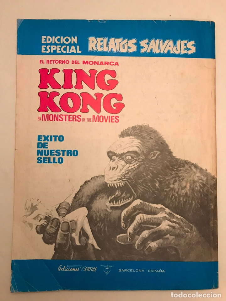 Cómics: RELATOS SALVAJES Nº 1. MONSTERS OF THE MOVIES KING KONG. VERTICE 1974 - Foto 4 - 177658143