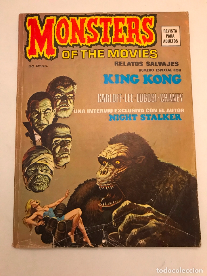 RELATOS SALVAJES Nº 1. MONSTERS OF THE MOVIES KING KONG. VERTICE 1974 (Tebeos y Comics - Vértice - Relatos Salvajes)