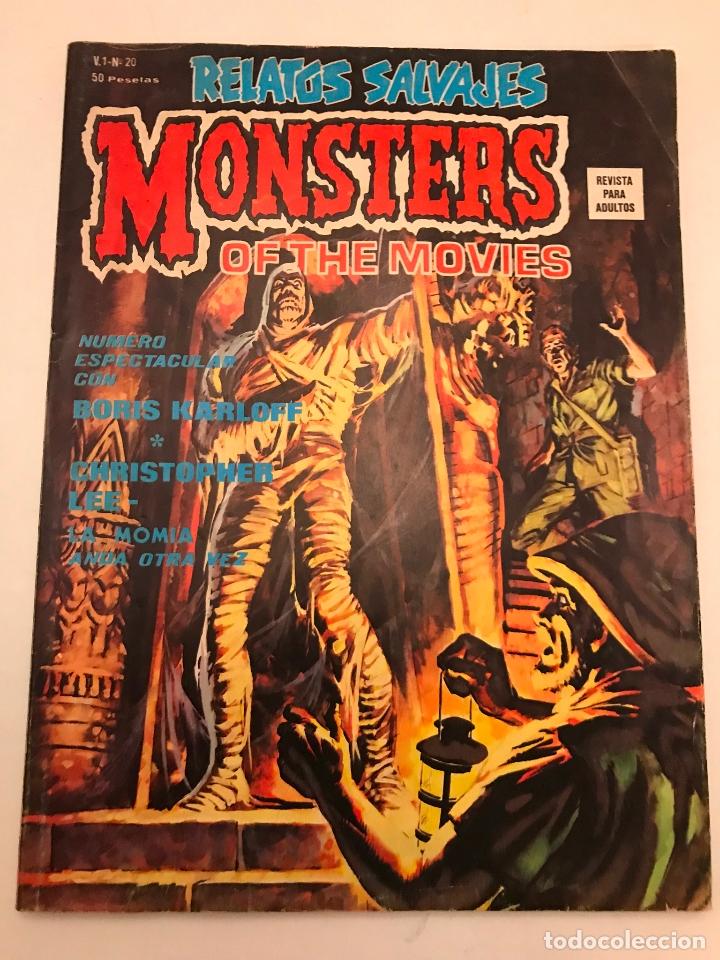 RELATOS SALVAJES Nº 20. MONSTERS OF THE MOVIES LA MOMIA. VERTICE 1975 (Tebeos y Comics - Vértice - Relatos Salvajes)