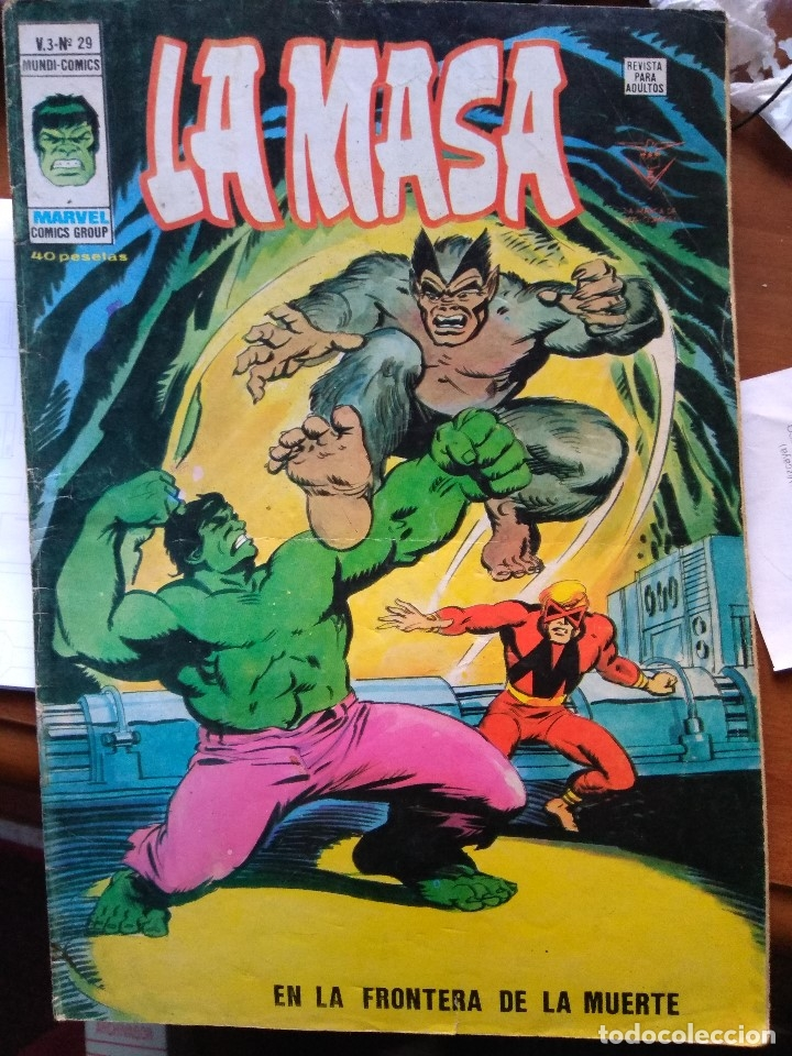 LA MASA Nº 29 - VÉRTICE MUNDI COMICS V3 (Tebeos y Comics - Vértice - V.3)