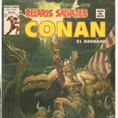 Cómics: RELATOS SALVAJES. V.1, Nº 81. CONAN, EL BÁRBARO. LA GEMA DE LA TORRE. VERTICE. (B/A49). Lote 178559792