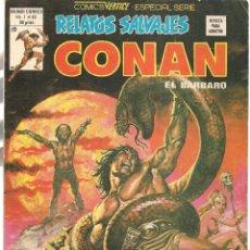 Cómics: RELATOS SALVAJES. V.1, Nº 82. CONAN, EL BÁRBARO. LUNA DE SANGRE. VERTICE. (B/A49). Lote 178560076