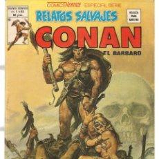 Cómics: RELATOS SALVAJES. V.1, Nº 83. CONAN, EL BÁRBARO. EL TESORO DE TRANICOS. VERTICE. (B/A49). Lote 178560286