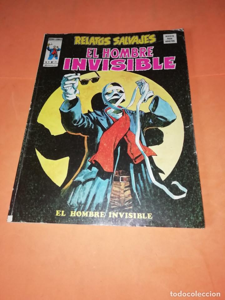 RELATOS SALVAJES. EL HOMBRE INVISIBLE. VOL 1 Nº 31. BUEN ESTADO. (Tebeos y Comics - Vértice - Relatos Salvajes)