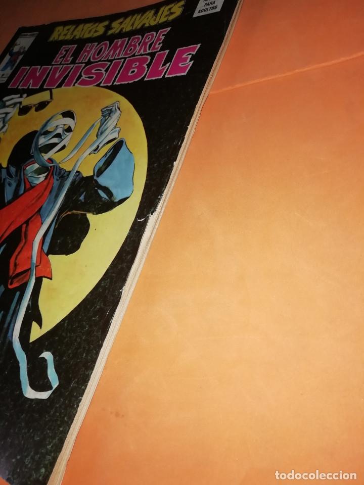 Cómics: RELATOS SALVAJES. EL HOMBRE INVISIBLE. VOL 1 Nº 31. BUEN ESTADO. - Foto 3 - 178761290