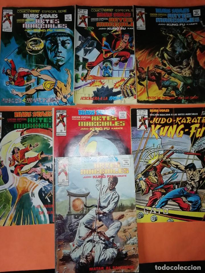 RELATOS SALVAJES. ARTES MARCIALES.VOL 1 Nº 25,26,31,33,43,51. Y VOL 2 Nº 8 A COLOR. (Tebeos y Comics - Vértice - Relatos Salvajes)