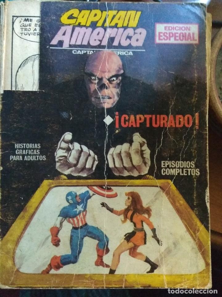 CAPITÁN AMÉRICA Nº 2 - VÉRTICE FORMATO TACO. FALTAN PÁGINAS (Tebeos y Comics - Vértice - Capitán América)