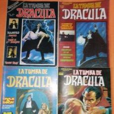 Cómics: LA TUMBA DE DRACULA. VOLUMEN 1 . NUMEROS 1 ,2,3 Y 4. VERTICE 1978.. Lote 178929287