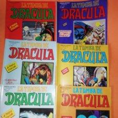Cómics: LA TUMBA DE DRACULA. VOLUMEN . NUMEROS 1 ,2,3,4,5 Y 6. VERTICE 1981. COLOR.. Lote 178930061
