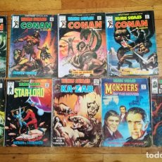 Cómics: LOTE 9 NÚMEROS DE RELATOS SALVAJES - MONSTERS OF THE MOVIE - CONAN - STAR LORD - ETC. Lote 179048808