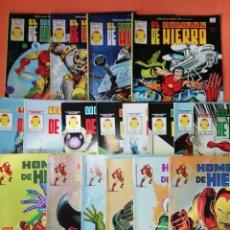 Cómics: HOMBRE DE HIERRO. 112 A 139 USA. EDITORIALES VERTICE, SURCO Y LINEA 83. 18 COMICS .. Lote 179223500
