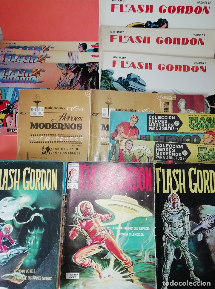 FLASH GORDON . GRAN LOTE EDICIONES VERTICE , DOLAR Y B.O. 42 COMICS EN TOTAL. NO SUELTOS. (Tebeos y Comics - Vértice - Flash Gordon)