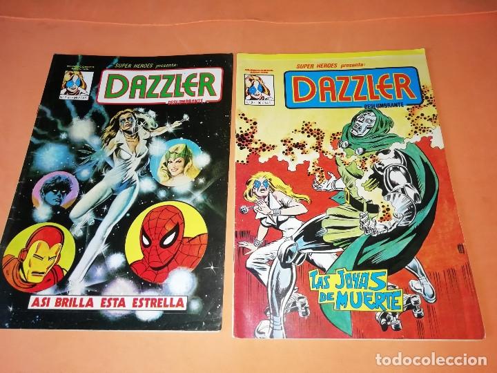 DAZZLER. SUPERHEROES PRESENTA :Nº 1 Y 2. MUNDICOMICS. VERTICE. BUEN ESTADO. COLOR. (Tebeos y Comics - Vértice - Surco / Mundi-Comic)
