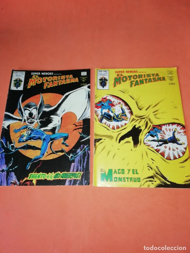 EL MOTORISTA FANTASMA. EL MAGO Y EL MONSTRUO V.2 Nº 106. VIENTO DE LOS NO MUERTOS. V.2 Nº129 (Tebeos y Comics - Vértice - Super Héroes)