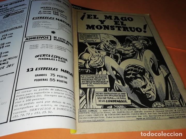 Cómics: EL MOTORISTA FANTASMA. EL MAGO Y EL MONSTRUO V.2 Nº 106. VIENTO DE LOS NO MUERTOS. V.2 Nº129 - Foto 4 - 180009598
