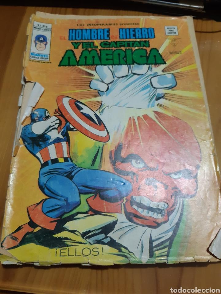Cómics: Comic vertice LOS INSUPERABLES,EL HOMBRE DE HIERRO ,EL CAPITAN AMERICA - Foto 3 - 180204468