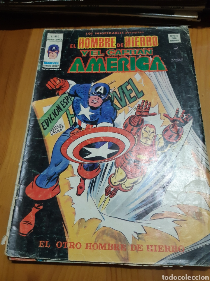 COMIC VERTICE LOS INSUPERABLES,EL HOMBRE DE HIERRO ,EL CAPITAN AMERICA (Tebeos y Comics - Vértice - Hombre de Hierro)