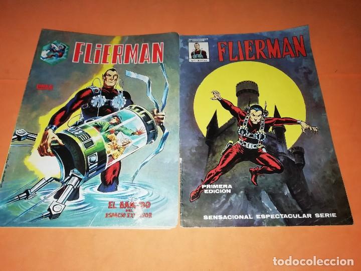 FLIERMAN. Nº 1 VERTICE COLOR ( BUEN ESTADO) Y Nº 2 SURCO B/N. ( VER FOTOS) (Tebeos y Comics - Vértice - Grapa)