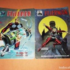 Cómics: FLIERMAN. Nº 1 VERTICE COLOR ( BUEN ESTADO) Y Nº 2 SURCO B/N. ( VER FOTOS). Lote 192209508
