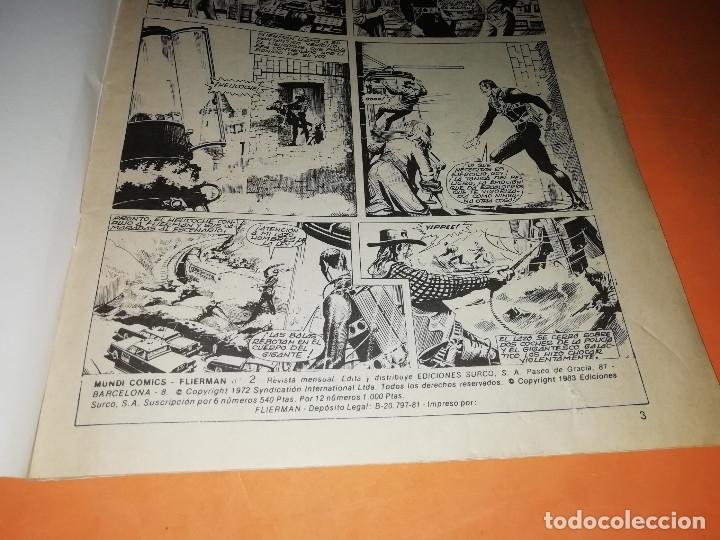 Cómics: FLIERMAN. Nº 1 VERTICE COLOR ( buen estado) Y Nº 2 SURCO b/n. ( ver fotos) - Foto 4 - 180251395