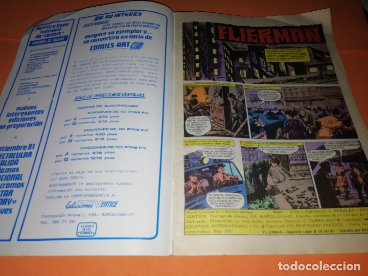 Cómics: FLIERMAN. Nº 1 VERTICE COLOR ( buen estado) Y Nº 2 SURCO b/n. ( ver fotos) - Foto 7 - 180251395