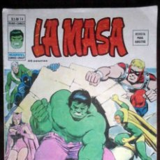 Cómics: LA MASA Nº 14 SI TE MATO... MUERO - VÉRTICE MUNDI-CÓMICS. Lote 180269942