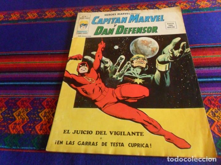 VÉRTICE VOL. 2 HÉROES MARVEL Nº 9 CON CAPITÁN MARVEL Y DAN DEFENSOR. 35 PTS. 1975. CORRECTO ESTADO. (Tebeos y Comics - Vértice - V.2)