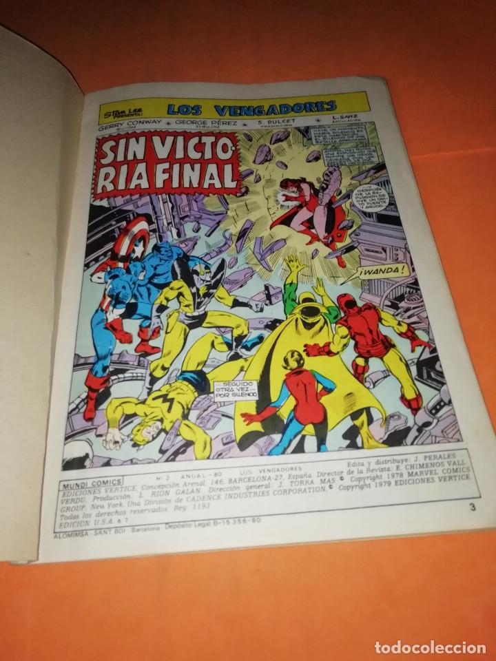 Cómics: COMICS VERTICE ADULTOS COLOR SERIES. LOS VENGADORES. ANUAL 80 Nº 2 - Foto 4 - 180948951