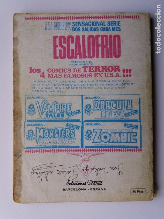 Cómics: LOS 4 FANTÁSTICOS. Nº 57. EL SECRETO DE LOS ETERNOS. EDICIONES VERTICE. 1973. - Foto 2 - 181036250