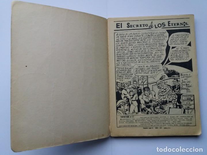 Cómics: LOS 4 FANTÁSTICOS. Nº 57. EL SECRETO DE LOS ETERNOS. EDICIONES VERTICE. 1973. - Foto 3 - 181036250