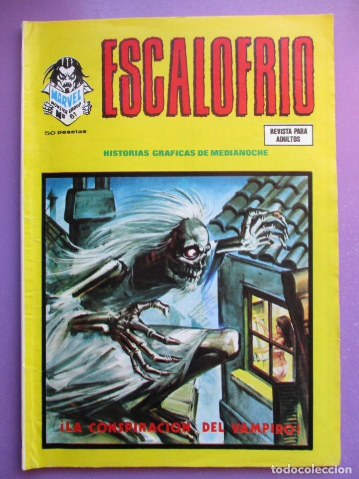 ESCALOFRIO Nº 61 VERTICE ¡¡¡¡ BUEN ESTADO Y MUY DIFICIL !!!!!! (Tebeos y Comics - Vértice - V.1)