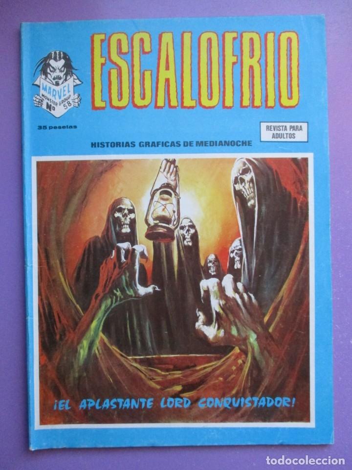 ESCALOFRIO Nº 58 VERTICE ¡¡¡¡ BUEN ESTADO !!!!!! (Tebeos y Comics - Vértice - V.1)