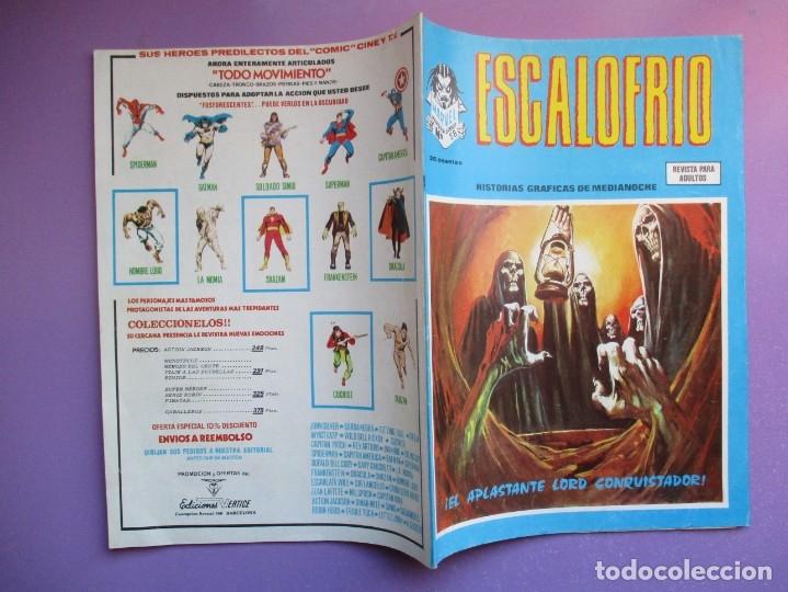 Cómics: ESCALOFRIO Nº 58 VERTICE ¡¡¡¡ BUEN ESTADO !!!!!! - Foto 3 - 181157267