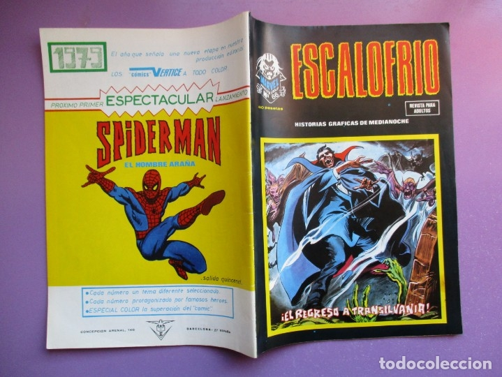 Cómics: ESCALOFRIO Nº 66 VERTICE ¡¡¡¡BASTANTE BUEN ESTADO !!!!!! - Foto 3 - 181157576