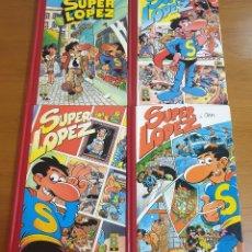 Comics: SÚPER LÓPEZ. PRECIOSA COLECCIÓN DE 4 LIBROS PASTA DURA. EDICIONES B.S.A. 1991. Lote 182021237