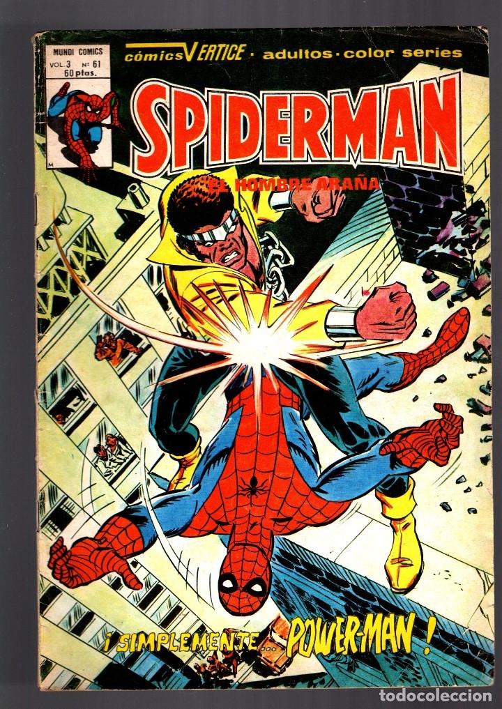 SPIDERMAN 61 VOL 3 - VERTICE VG+ / CONTRA POWERMAN Y EL HOMBRE LOBO (Tebeos y Comics - Vértice - V.3)
