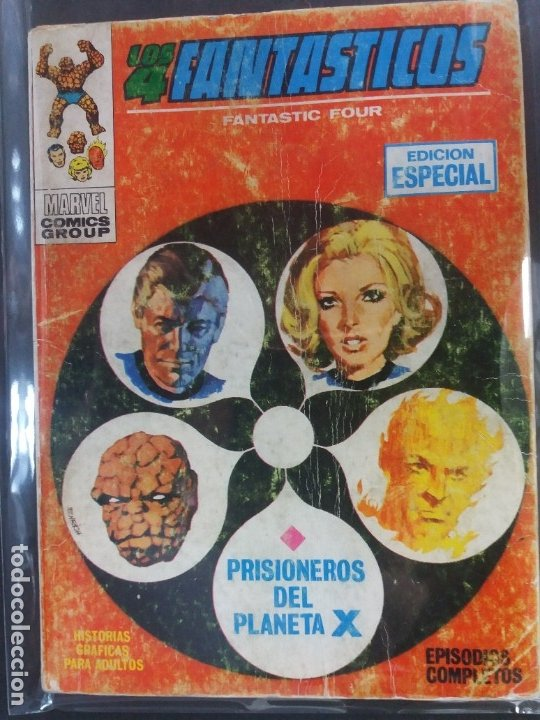 LOS 4 FANTASTICOS Nº 4 PRISIONEROS DEL PLANETA X (Tebeos y Comics - Vértice - V.1)