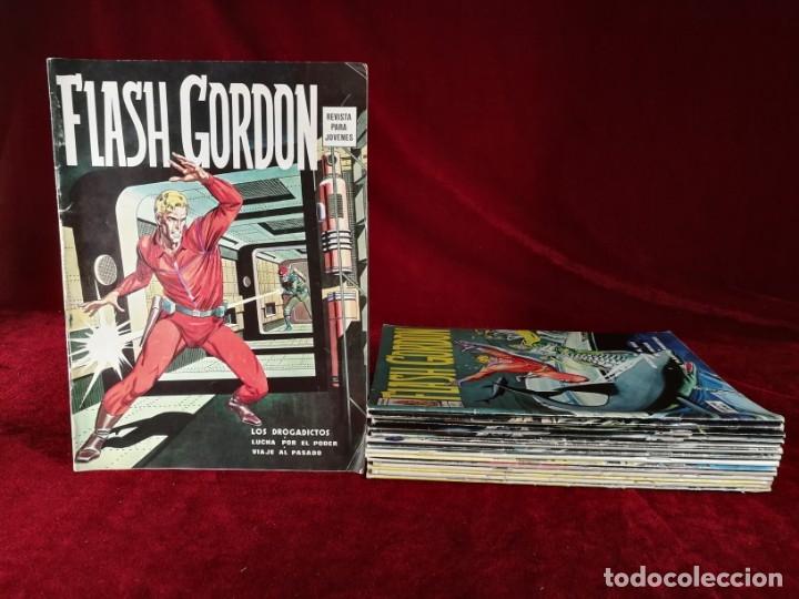 GRAN LOTE FLASH GORDON VERTICE VOLUMEN I 1 DE 15 EJEMP. 1 3 4 5 6 10 12 14 15 16 17 24 34 35 40 (Tebeos y Comics - Vértice - Flash Gordon)