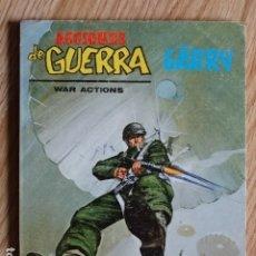 Cómics: ACCIONES DE GUERRA WAR ACTIONS EL PEOR ENEMIGO 18 CON GARRY EDICIONES INTERNACIONALES VÉRTICE 1974. Lote 182761573