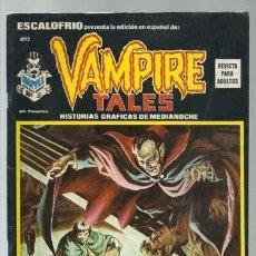Comics: ESCALOFRIO 20, 1974, VERTICE, MUY BUEN ESTADO. Lote 183386022
