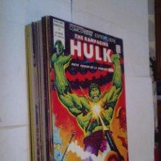 Fumetti: THE RAMPAGING HULK - COLECCIÓN COMPLETA - 15 NUMEROS - VÉRTICE 1976 - EXCELENTE ESTADO - GORBAUD. Lote 184165148