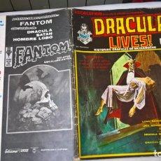 Cómics: COMIC: ESCALOFRIO Nº 24 - DRACULA LIVES! Nº 6 - HISTORIAS GRAFICAS DE MEDIANOCHE. Lote 184348050