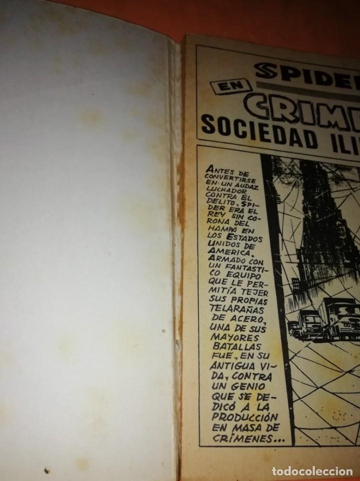 Cómics: SPIDER. EL HOMBRE ARAÑA. EXTRA. Nº 18. CRIMEN, SOCIEDAD LIMITADA. VERTICE 1968 .TACO. DIFICIL. - Foto 6 - 184451847