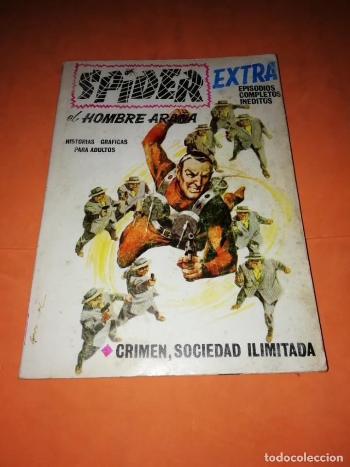 SPIDER. EL HOMBRE ARAÑA. EXTRA. Nº 18. CRIMEN, SOCIEDAD LIMITADA. VERTICE 1968 .TACO. DIFICIL. (Tebeos y Comics - Vértice - Otros)