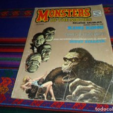 Cómics: VÉRTICE RELATOS SALVAJES Nº 1 MONSTERS OF THE MOVIES. 1977. 50 PTS. CON LOMO. ESPECIAL KING KONG. . Lote 185960473