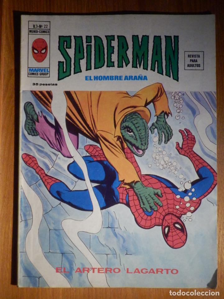 TEBEO - COMIC - THOR V. 3 - Nº 22 VERTICE SPIDERMAN - EL HOMBRE ARAÑA - EL ARTERO LAGARTO (Tebeos y Comics - Vértice - Super Héroes)